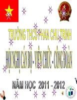 Chương trình hội nghị cán bộ - viên chức - công đoàn năm học 2011 - 2012