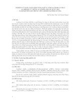 NGHIÊN CỨU KHẢ NĂNG SINH TỔNG HỢP VÀ TINH SẠCH HOẠT CHẤT ACARBOSE từ CHỦNG ACTINOPLANES SP  KCTC 9161 LÀM NGUYÊN LIỆU THUỐC CHỮA BỆNH ĐÁI THÁO ĐƯỜNG