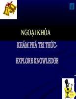 Ngoai khoa nhóm Anh Văn 2014 khám phá tri thức (tích hợp các môn học THPT)