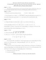 Đề thi GV dạy giỏi môn Toán ( Lý thuyết)