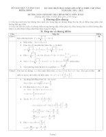 Đề và đáp án thi chọn HSG 12 - Đồng tháp 2011-2012