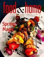 food and home spring magic