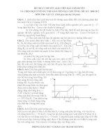 Đề thi GV dạy giỏi môn Vật lý( Ly thuyết)