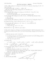 Chọn lọc các  dạng toán hình học 9 chương I