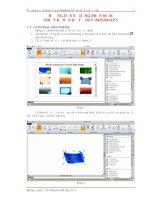 Hướng dẫn sử dụng phần mềm IMindMap 5 để thiết kế BĐTD.