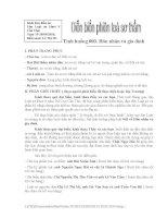 Kịch bản diễn án Hôn nhân và Gia đình Nguyễn Thị Thu Lan và Trần Quốc Minh