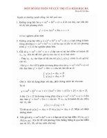 ôn thi môn toán thi đh một số bài toán về cực trị hàm bậc 3