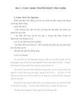 BÀI 1 THỰC HÀNH TRUYỀN NHIỆT ỐNG XOẮN