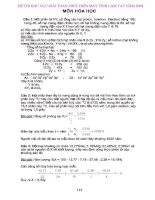 Đề thi+Đáp án giải toán Hóa học trên máy tính cầm tay