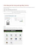 Cách đăng bài lên trang web lập bằng Joomla!