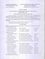 Số: 3251/QĐ-SGDĐT Quyết định thành lập Ban hướng dẫn nghiệp vụ cấp tỉnh ngành học MN ... 2012