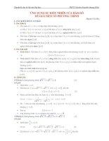 LTĐH chuyên đề ứng dụng tính đơn điệu của hàm số để giải một số phương trình vô tỷ