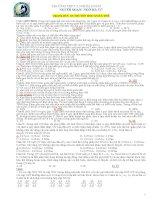 BTSinh chuyên đề 5 Cấu trúc DT Quần thể