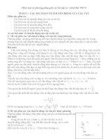 phân loại và phương pháp giải các bài tập cơ - nhiệt bậc thcs bồi dưỡng học sinh giỏi vật lý 9