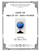 GIAO AN DIA LY 10 - BAI 1 DEN BAI 30 (2010-2011)