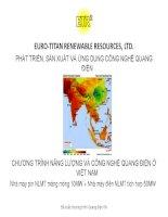 Phát triển, sản xuất và ứng dụng công nghệ quang điện