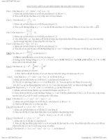 Các bài toán khảo sát hàm số trong các đề thi đại học