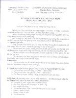 Kế hoạch tổ chức hoạt động các ngày lễ  của Công đoàn GDBL