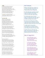 Tuyển tập những bài thơ hay viết về thầy cô chào mừng 2011