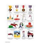 Học Tiếng Anh qua hình ảnh thể thao