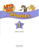 oxford let''s go phonics 1