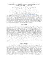 ẢNH HƯỞNG CỦA CHẾ ĐỘ XỬ LÍ NHIỆT LÊN PHẨM CHẤT TỪ CỦA NAM CHÂM THIÊU KẾT NdFeB