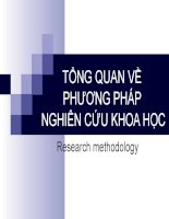 slide tổng quan về phương pháp nghiên cứu khoa học