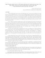 MỘT SỐ BIỆN PHÁP TĂNG CƯỜNG MỐI LIÊN HỆ GIỮA NỘI DUNG DẠY HỌC CÁC HỌC PHẦN TOÁN CAO CẤP VỚI NỘI DUNG TOÁN Ở TIỂU HỌC  CHO SINH VIÊN NGÀNH GIÁO DỤC TIỂU HỌC