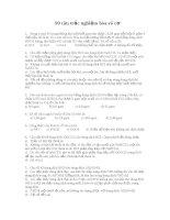 90 câu hỏi trắc nghiệm Hóa vô cơ