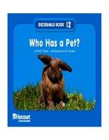 who has a pet