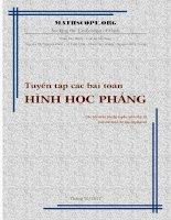Tuyen tap cac bai toan HHP - Dien dan MathScope