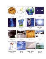 Học Tiếng Anh qua hình ảnh thời tiết