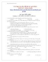 730 câu hỏi ôn tập Sinh học lớp 12