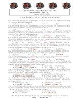 Tài liệu ôn thi đại học môn hóa năm 2012 (Matdanh_LHVH_CCHM)