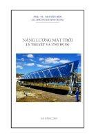 Giáo trình lý thuyết và thực hành năng lượng mặt trời