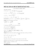 Kinh nghiệm giải toán trên CASIO phần II nâng cao một số chuyên đề giải toán