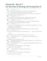 Đại số 9 - Chương 2 - Hàm số bậc nhất - Chuyên đề khoảng cách