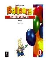 balloons level 1 teacher''s edition
