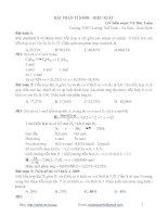 Phương pháp giải bài toán tỉ khối-hiệu suất