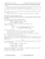 Phương pháp giải bài toán co2 phản ứng với dung dịch bazơ