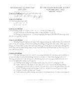 Tuyển tập các đề thi tuyển vào lớp 10 môn toán