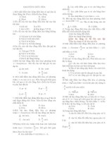Đề trắc nghiệm Lý 12 (có đáp án)