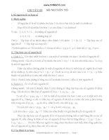 Các dạng Toán cơ bản về số nguyên tố