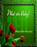 TU4B gửi tặng Cô giáo nhân ngày 20-11!