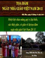 Chào mừng ngày nhà giáo Việt Nam 20-10