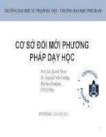 Cơ sở đổi mới PPDH