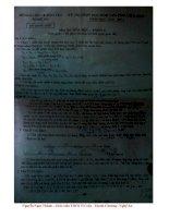 Đáp án đề thi HSG Tỉnh Nghệ An môn Hóa 9 (2010-2011)