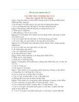 500 câu trắc nghiệm môn Địa lý 12
