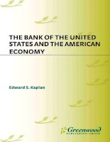 the bank of the united states and the american economy (1999)