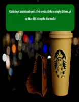 Phân tích chiến lược kinh doanh quốc tế của Starbucks